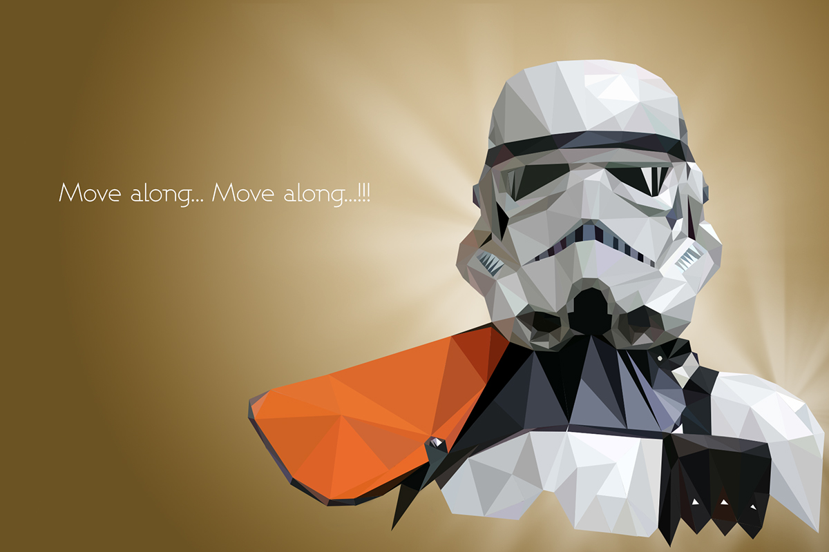 Star Wars Low Poly Portraits On Behance