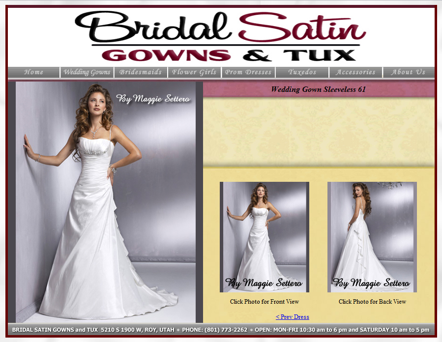 Jeremy James - Bridal Satin Gowns and Tux Website