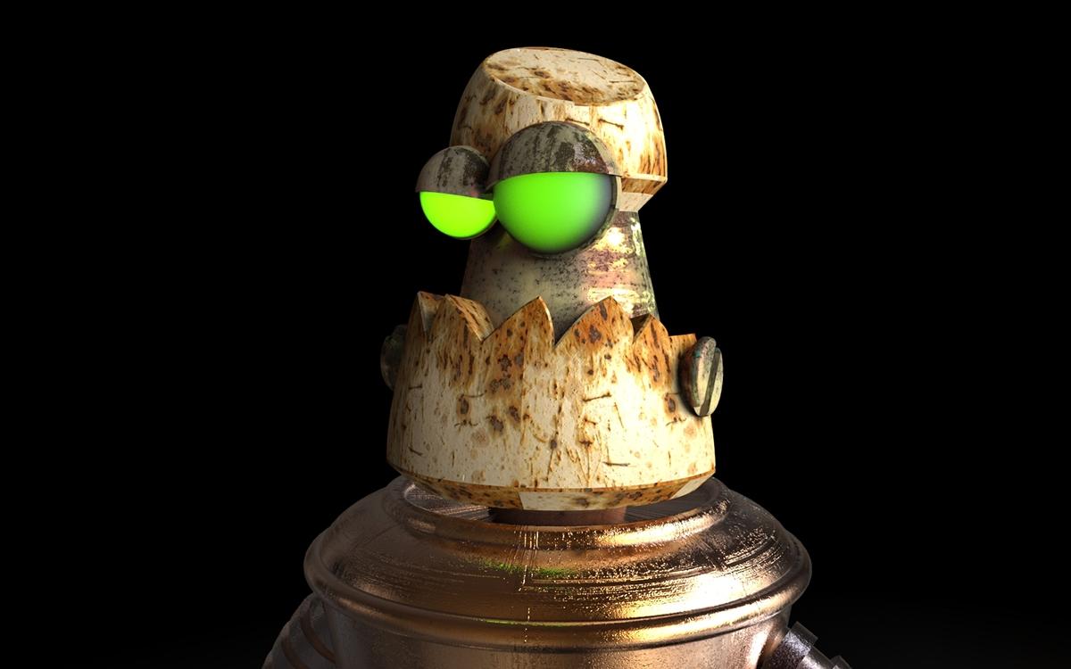 rusty robot 3d