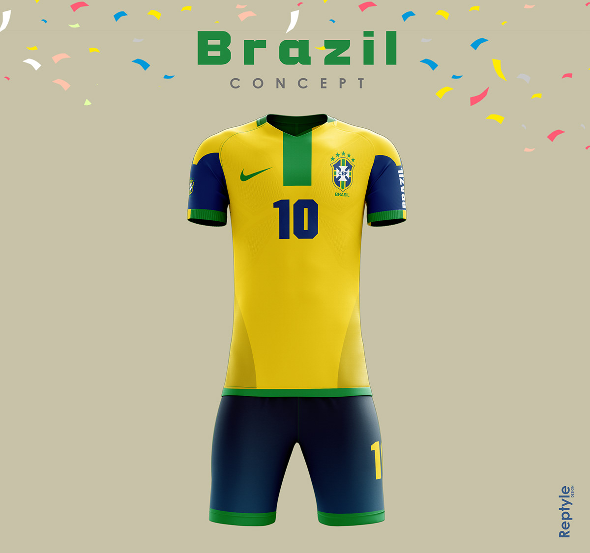 Brazil soccer kit concept. Maurizio Moretti •. Follow Following Unfollow.  Save to Collection 94ebfb90a