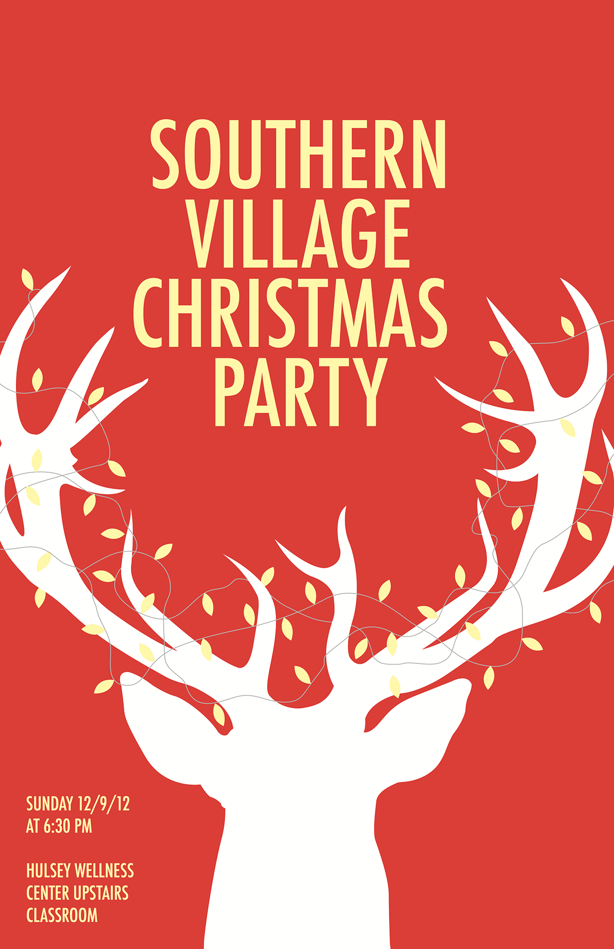 christmas party poster on behance