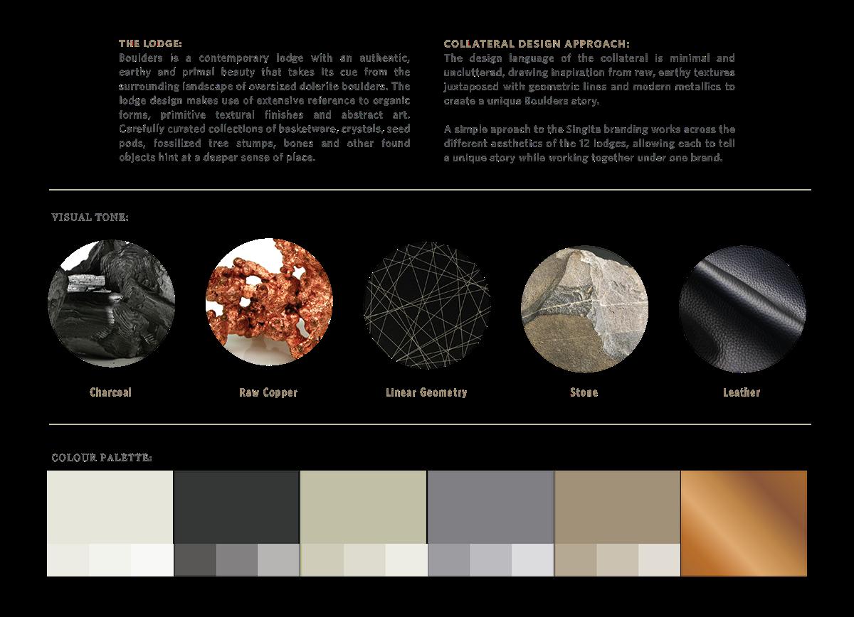 collateral design print singita Publicis Machine