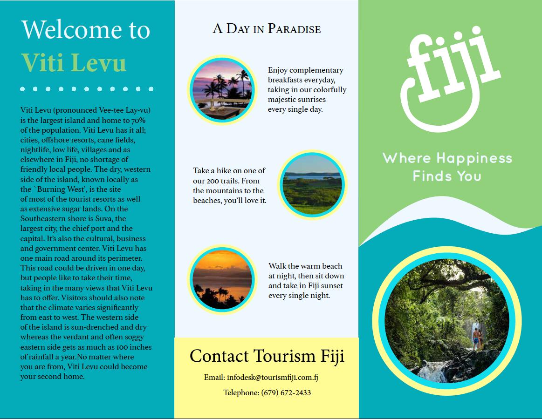 Mock Up Fiji Travel Brochure On Behance