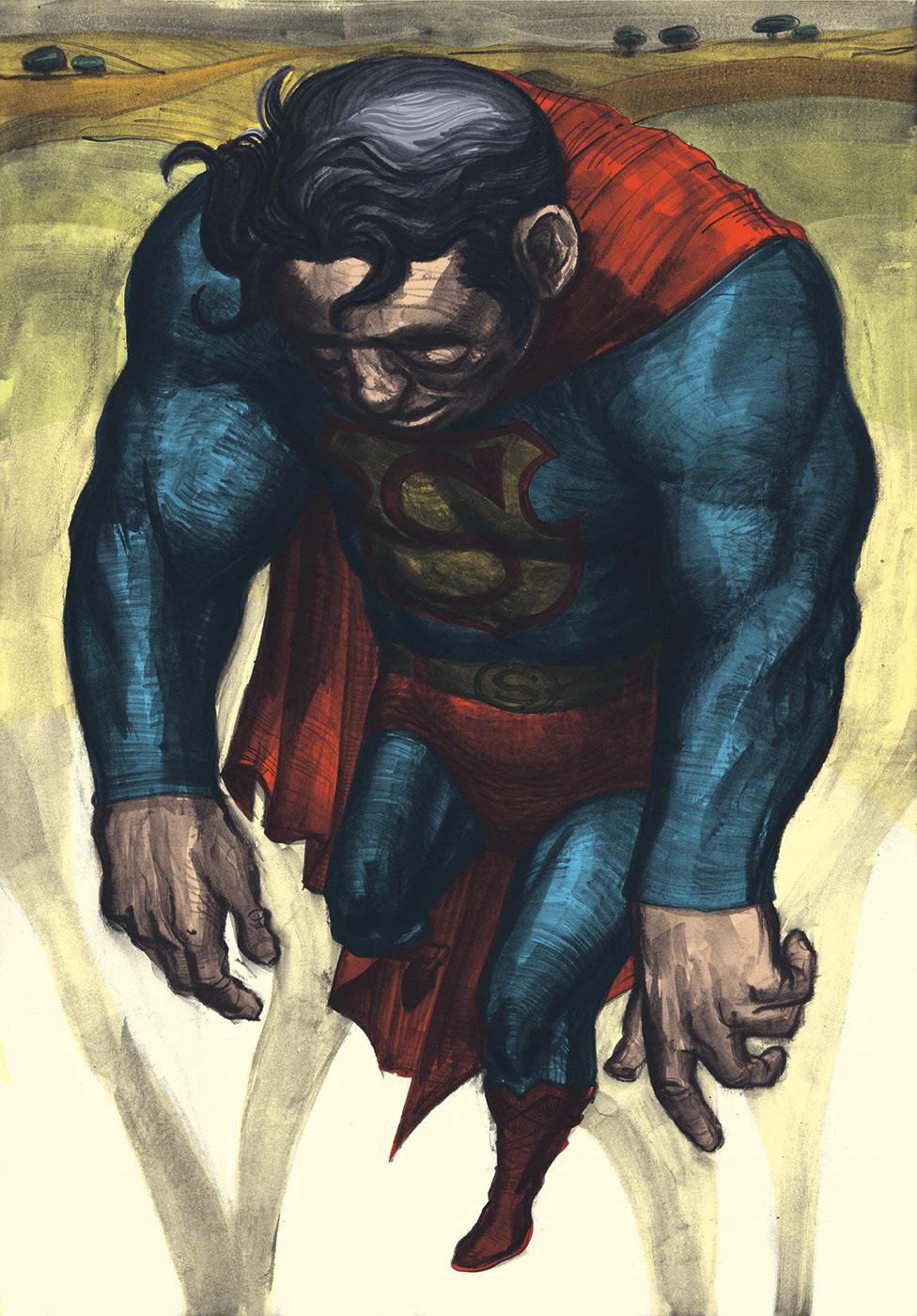 comic grafito graphite superman version