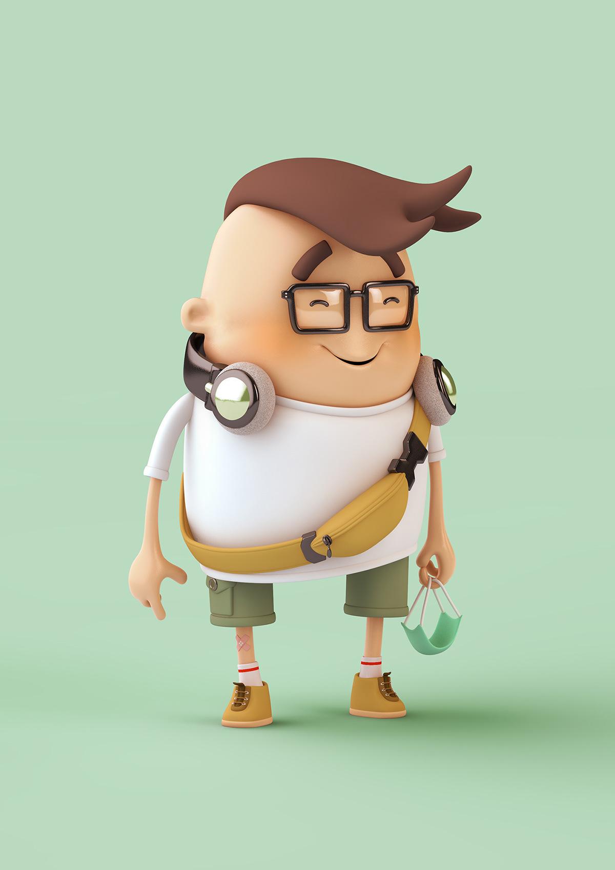3D Character characterdesign gmehling ILLUSTRATION  International mask stereotypes