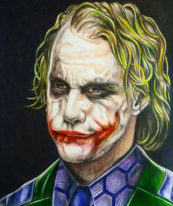 Joker Color Drawing On Behance
