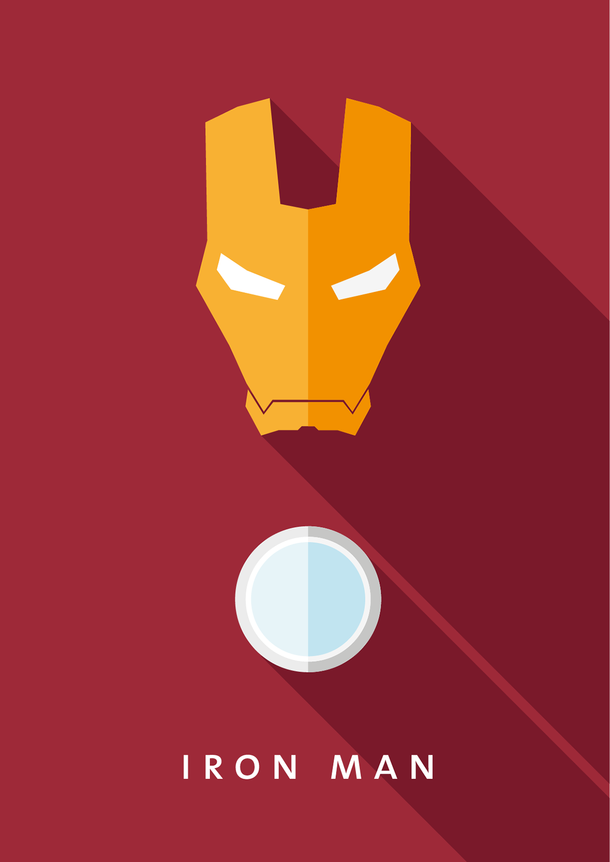 Marvel Character Design Behance : Minimalistic flat design comic hero poster on behance