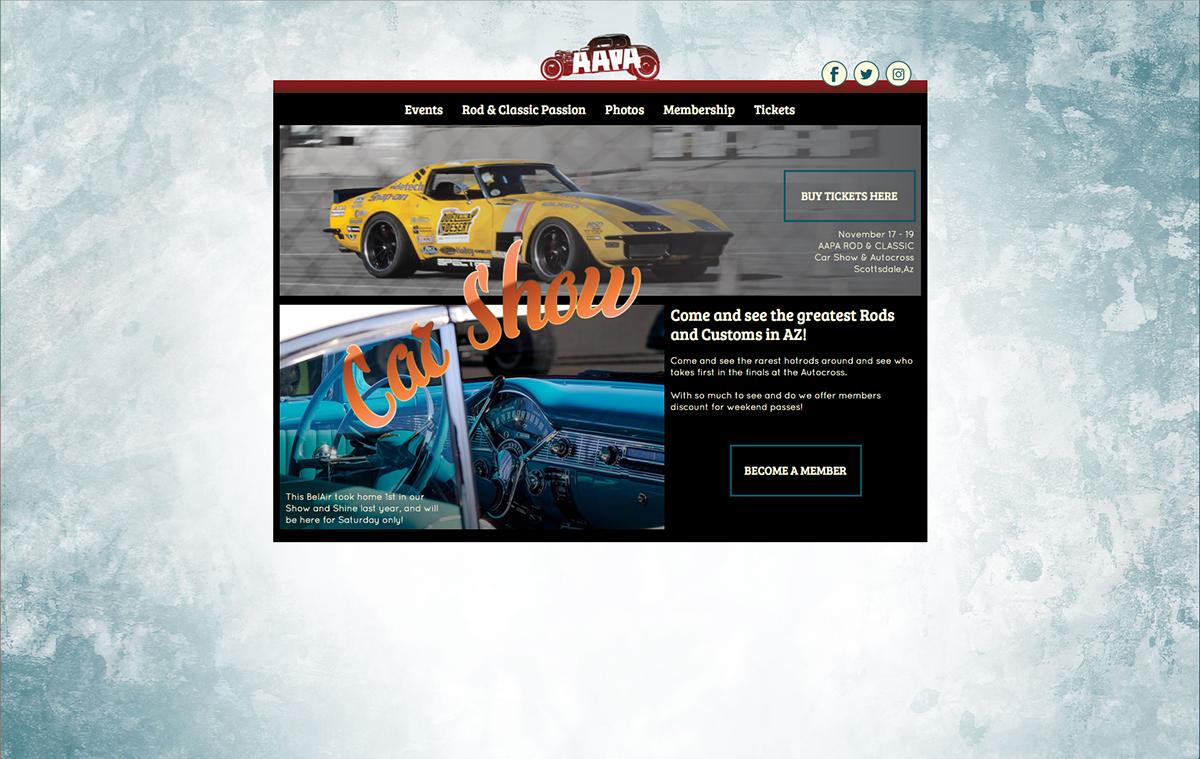 AAPA Rods & Classics Car Show Website on Behance