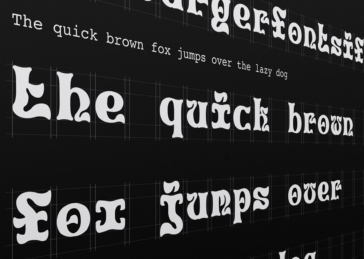 psychedelica psychedelic remco blom drawattention.nl DrawAttention Remco Blom Type Specimen