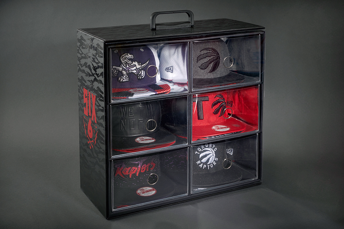 Each cap also comes with a short description of the inspiration behind it  and it s all housed in a 6-drawer package to display and store the caps fbe843288a5