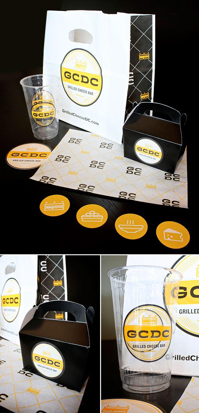 GCDC Grilled Cheese Bar Restaurant Branding, Packaging Design, Washington, DC