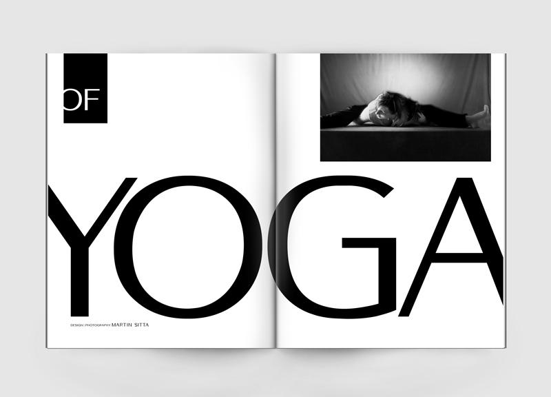 Yoga clean spread black and white