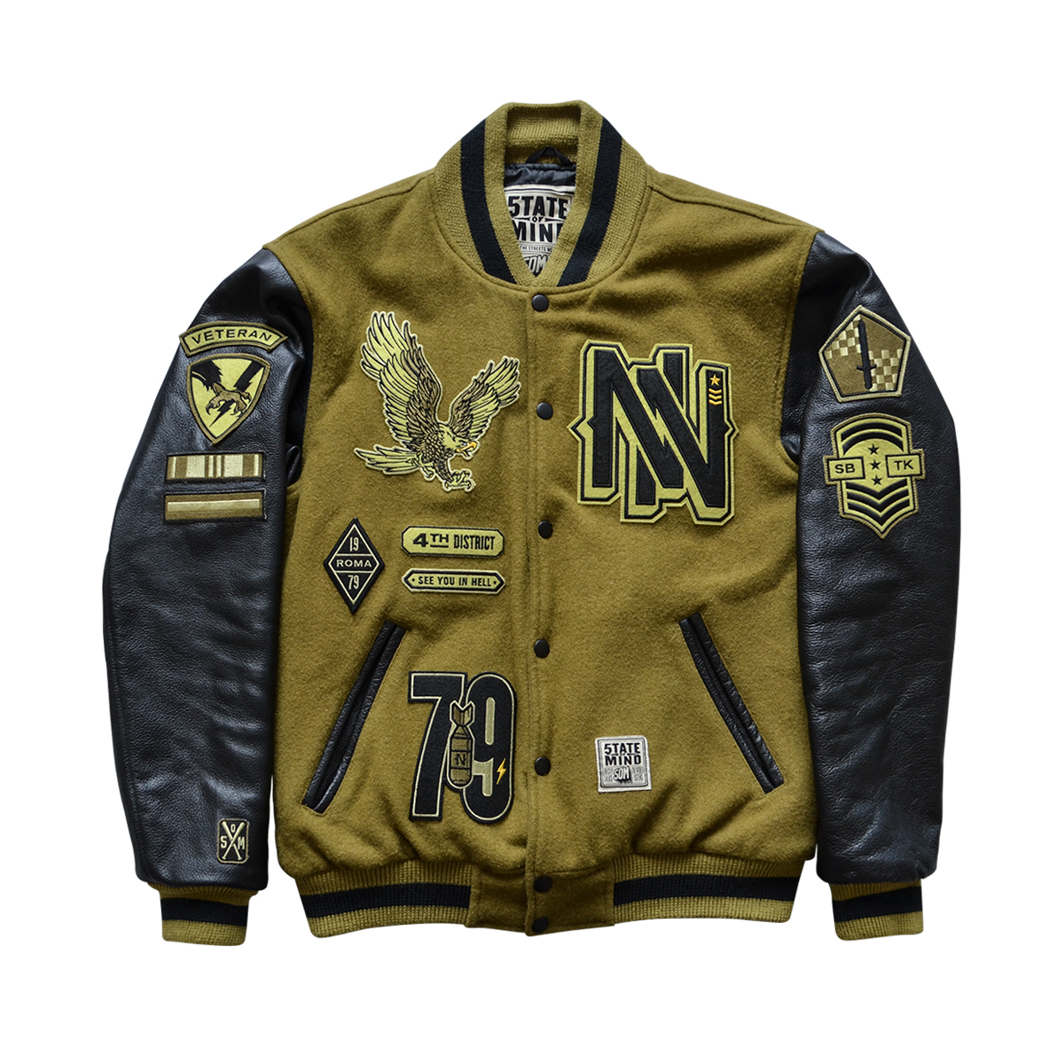 timeless design 25d71 9aa07 5TATE OF MIND x NOYZ NARCOS Varsity Jacket on Behance