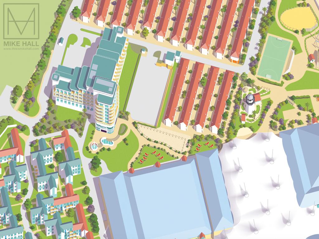 Resort maps for Butlins on Behance