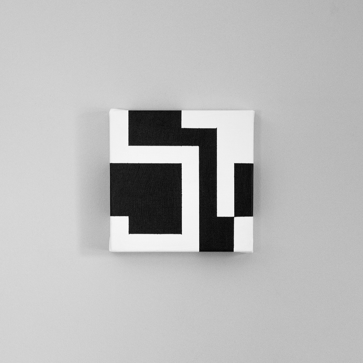 painting   canvas pixel bit black and white Fine Arts  linear hardedge Photography