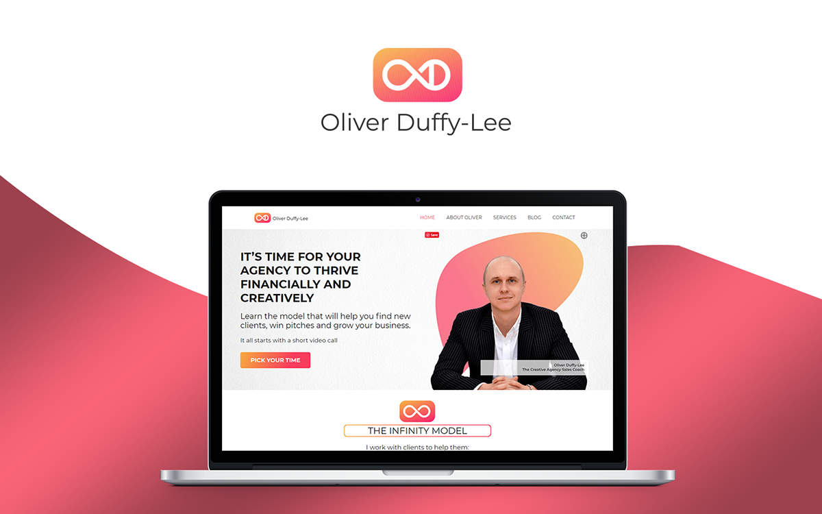 Business Coach Branding And Website Design On Student Show