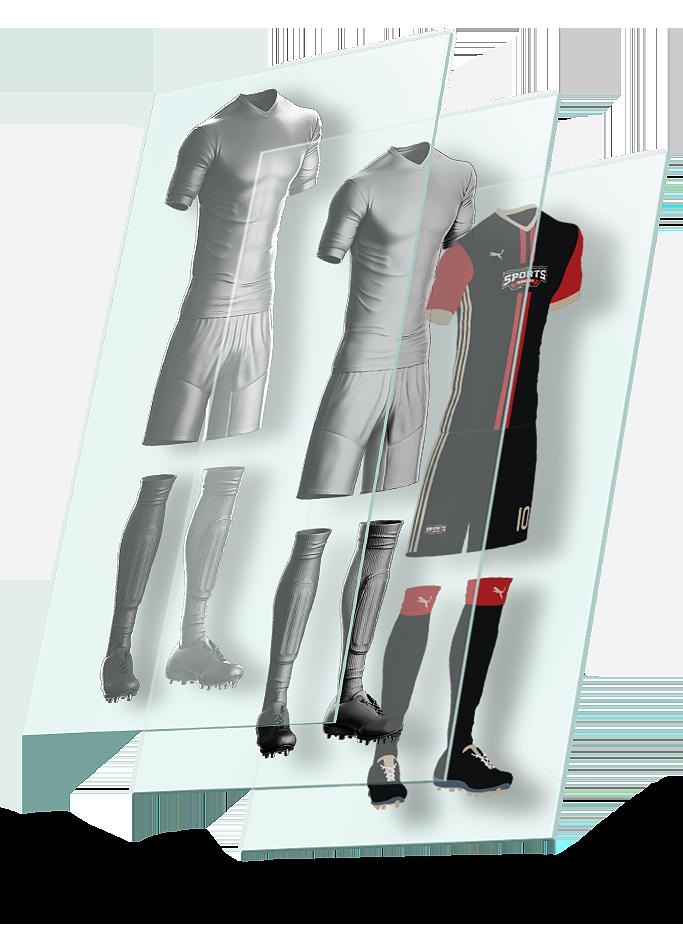 bd1d1841995 Goal Soccer Kit Uniform Template on Behance