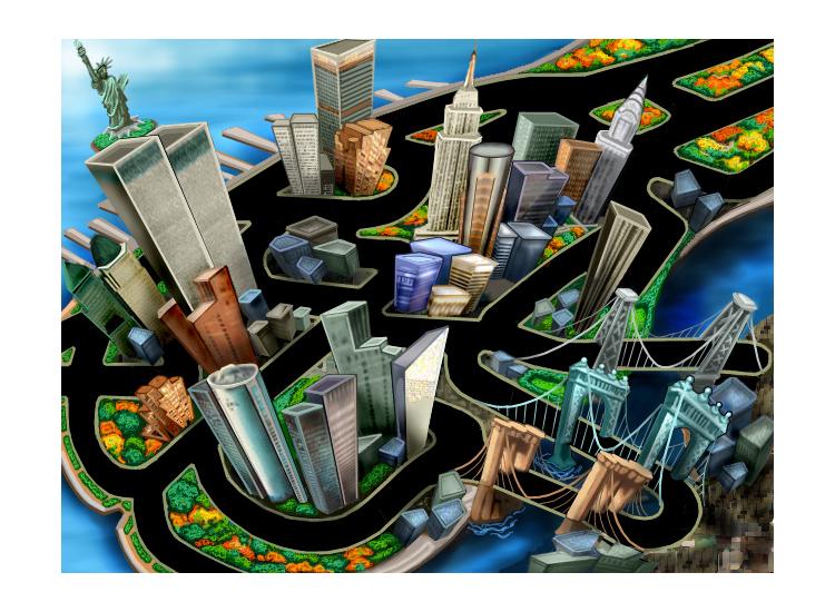 Cartoon Map Of New York City.Cartoon Maps On Behance