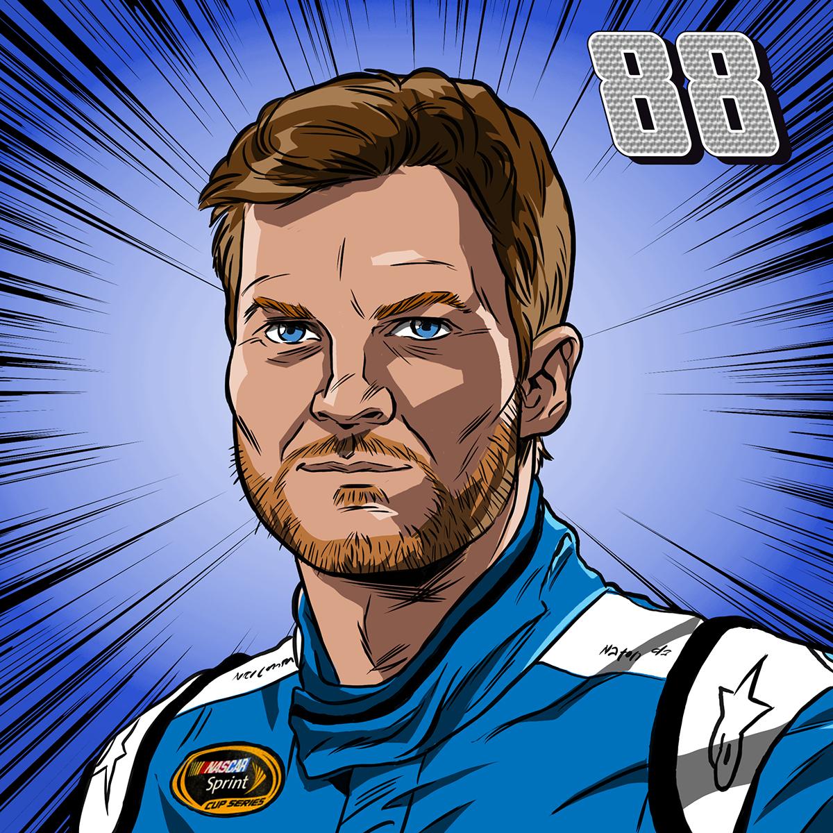 portraits,art,character designs,NASCAR,drivers,racecar,daytona500