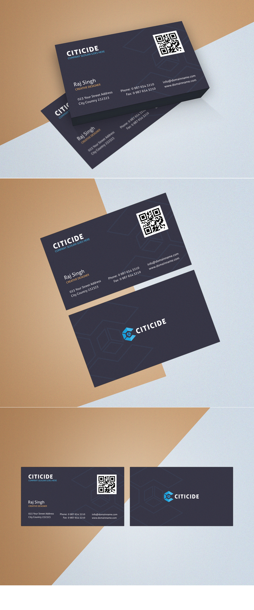Business Card Template Design and Mockup PSD Free on Behance