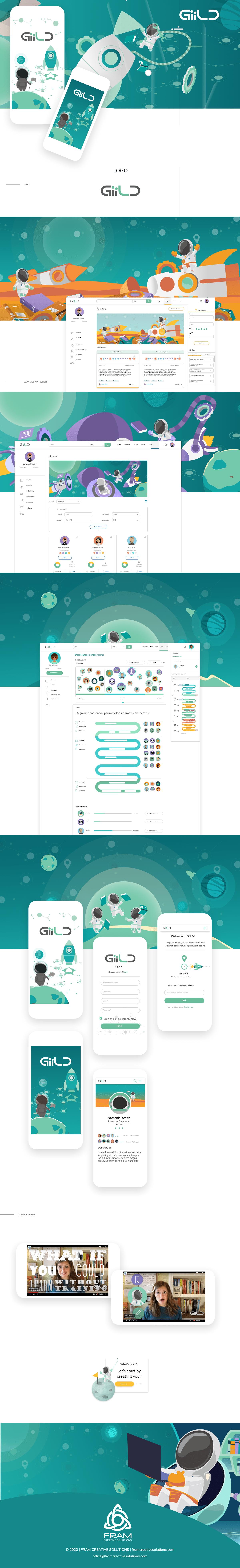 Education UI ux ux/ui Webdesign