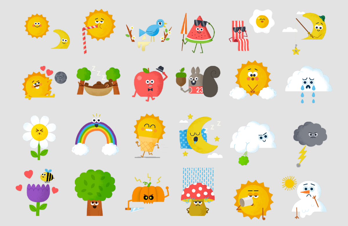 giphy animated stickers on behance