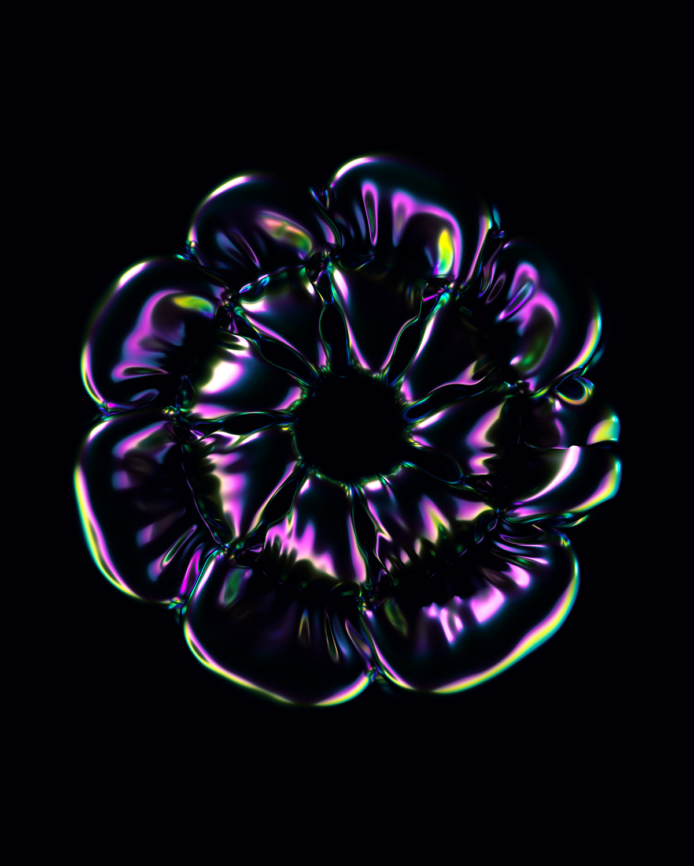 motion bloom 3D c4d cloth jelly fish Ocean meditation