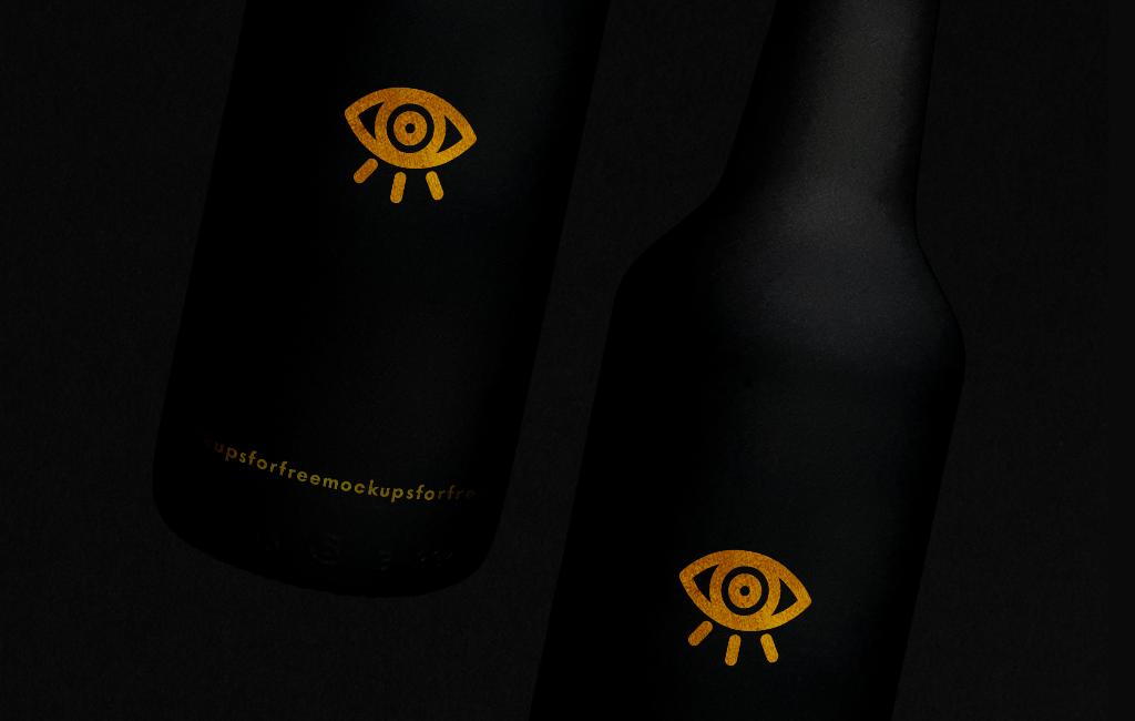 Download Black Beer Bottle / Free PSD Mockup on Behance Free Mockups