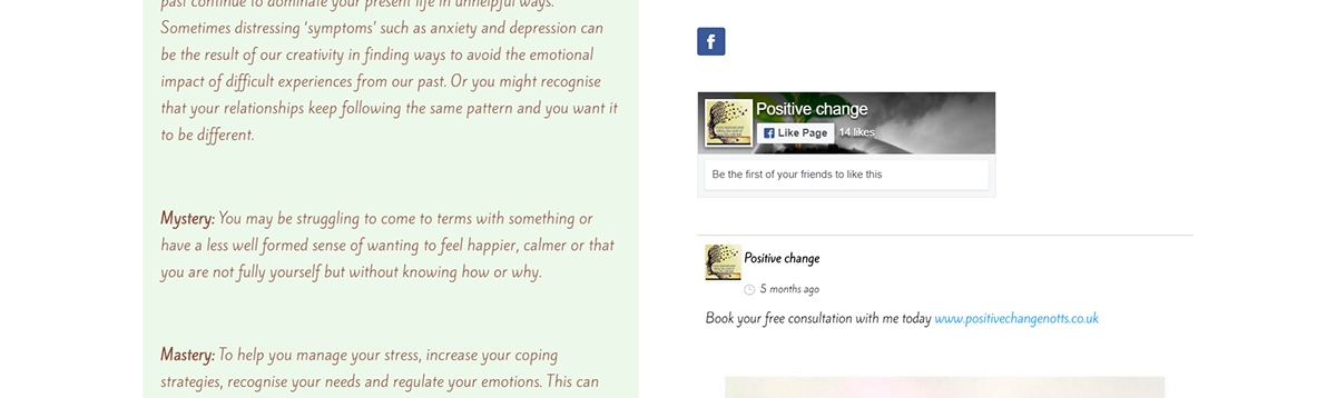 Website wordpress design therapy therapist Counceling green UI/UX Positive change