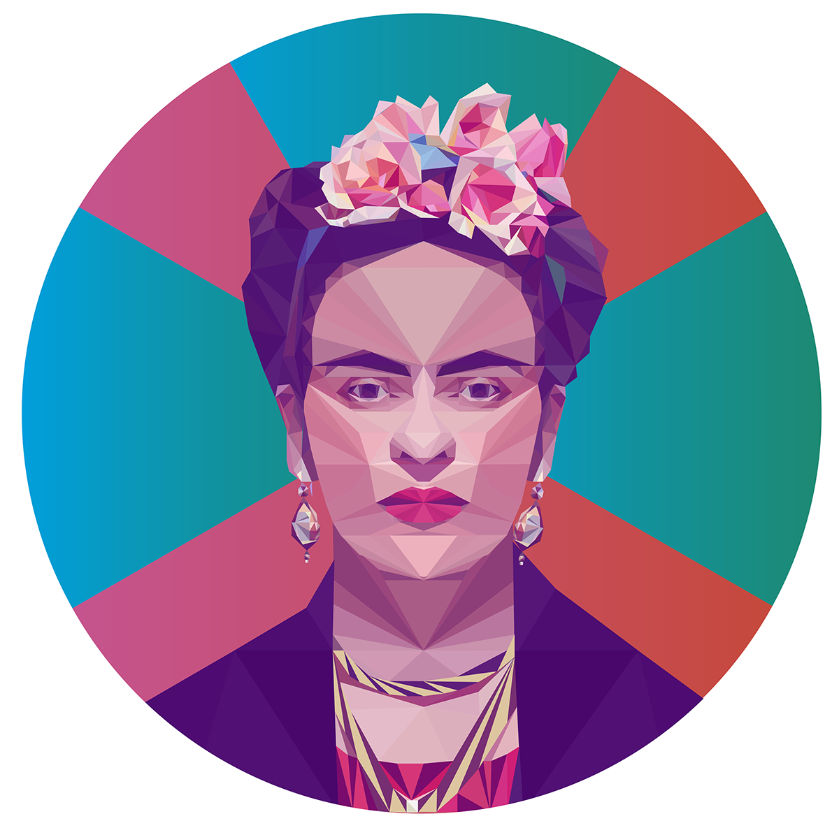 colossal madethis lowpoly portraits fkatwigs salvadordali ANDYWARHOL Chaplin fridakahlo bjork AmyWinehouse Ps25Under25 kanyewest