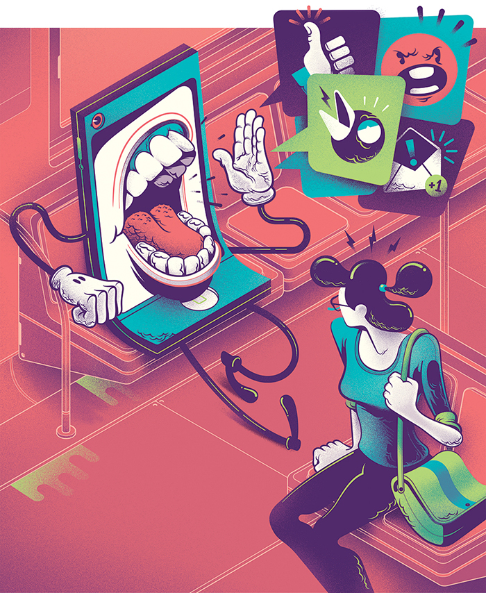 editorial vector characters textures Wired magazine