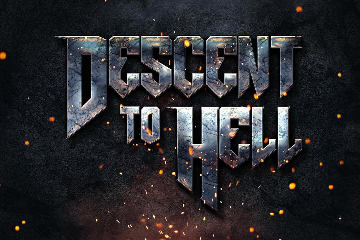 brand branding  heavy metal INFIERNO Logotipo marca musica tipografia