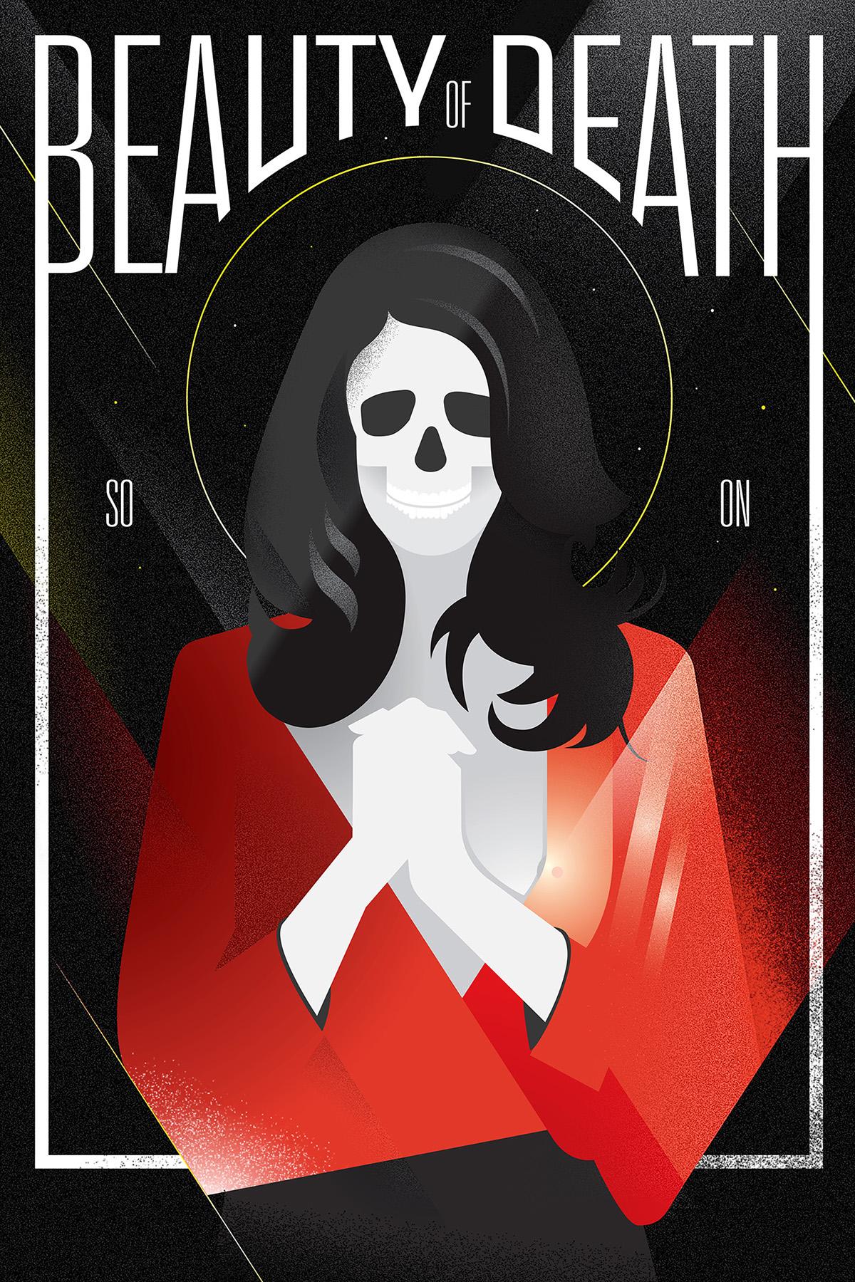 artdeco death skull skeleton artdotz dotz 3s poster Icon art Style woman free download dotz vector