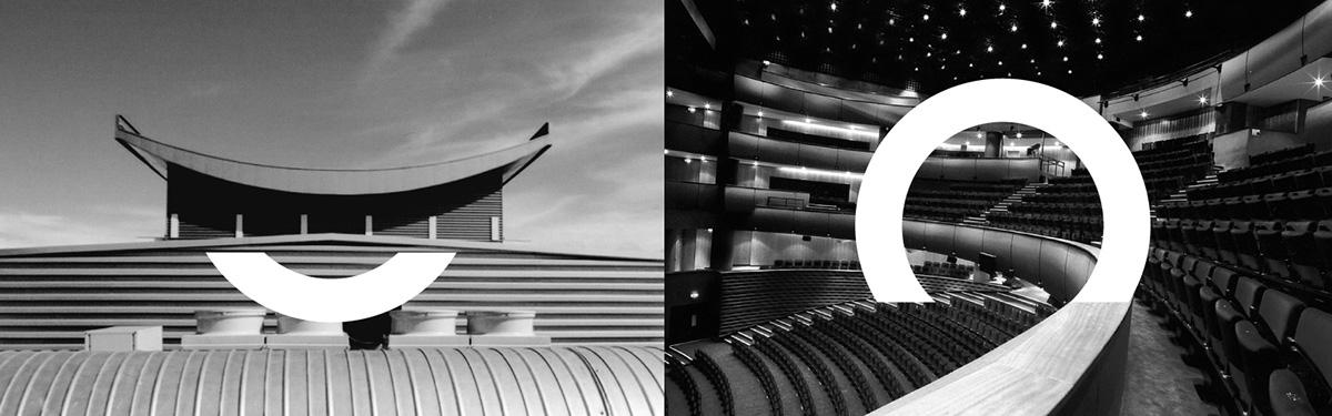 opera house logo minimal colorfull portraits season Musical agca