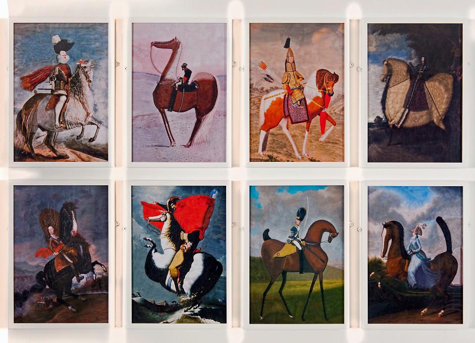 collage horses vintage