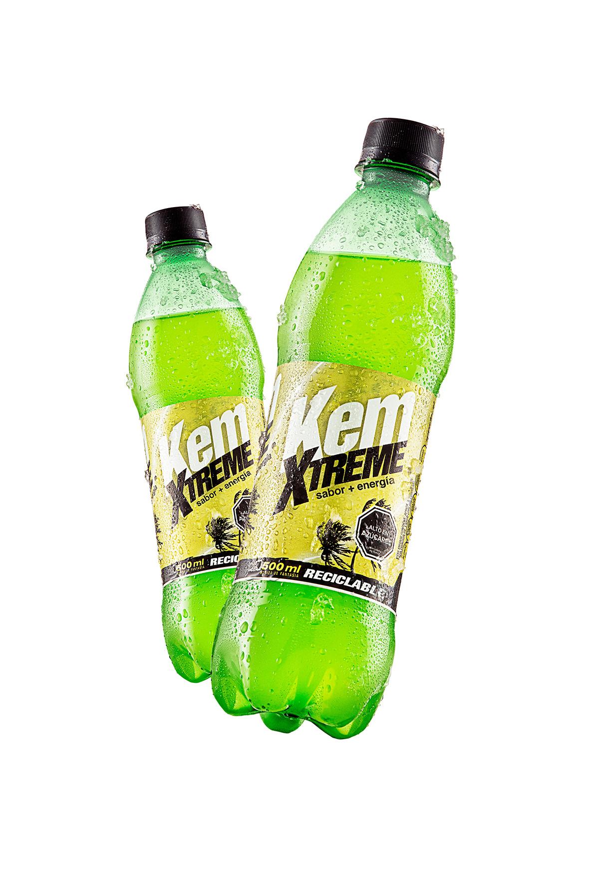Advertising  chile energetic extreme kem power retouch soda
