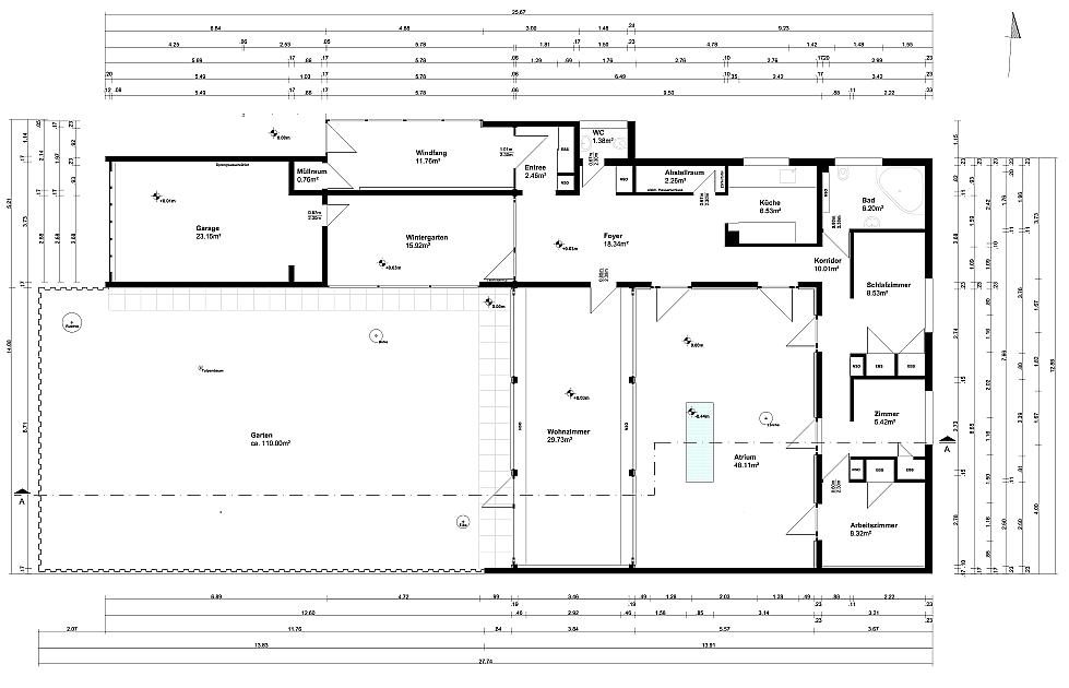 atrium house 1957 bungalow render on behance. Black Bedroom Furniture Sets. Home Design Ideas