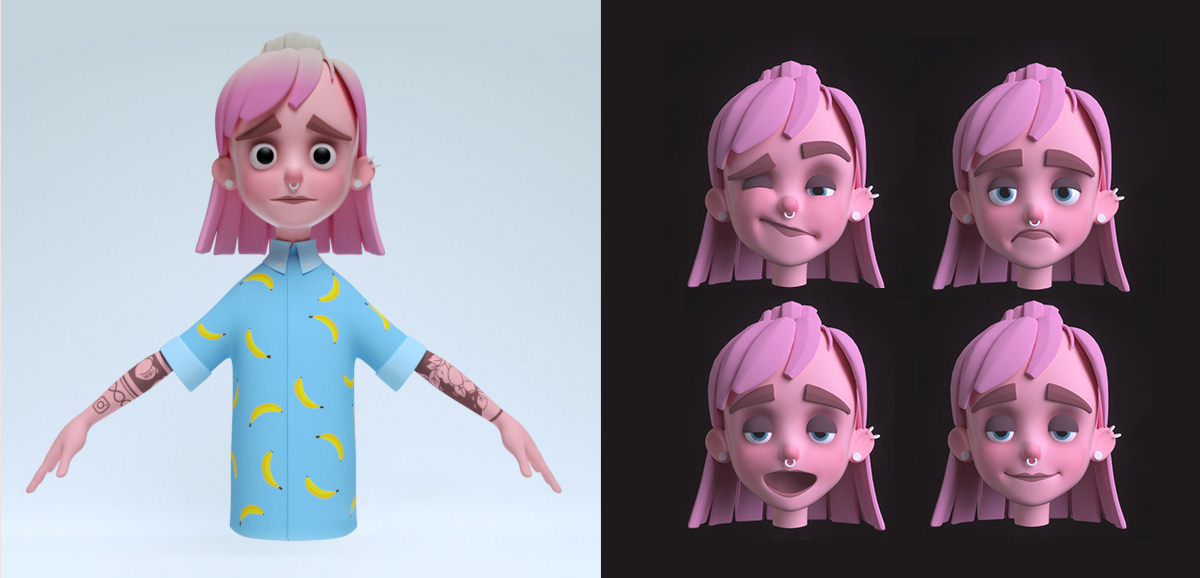 CGI animated 3D Film   Character funny stylized humor bold colorful