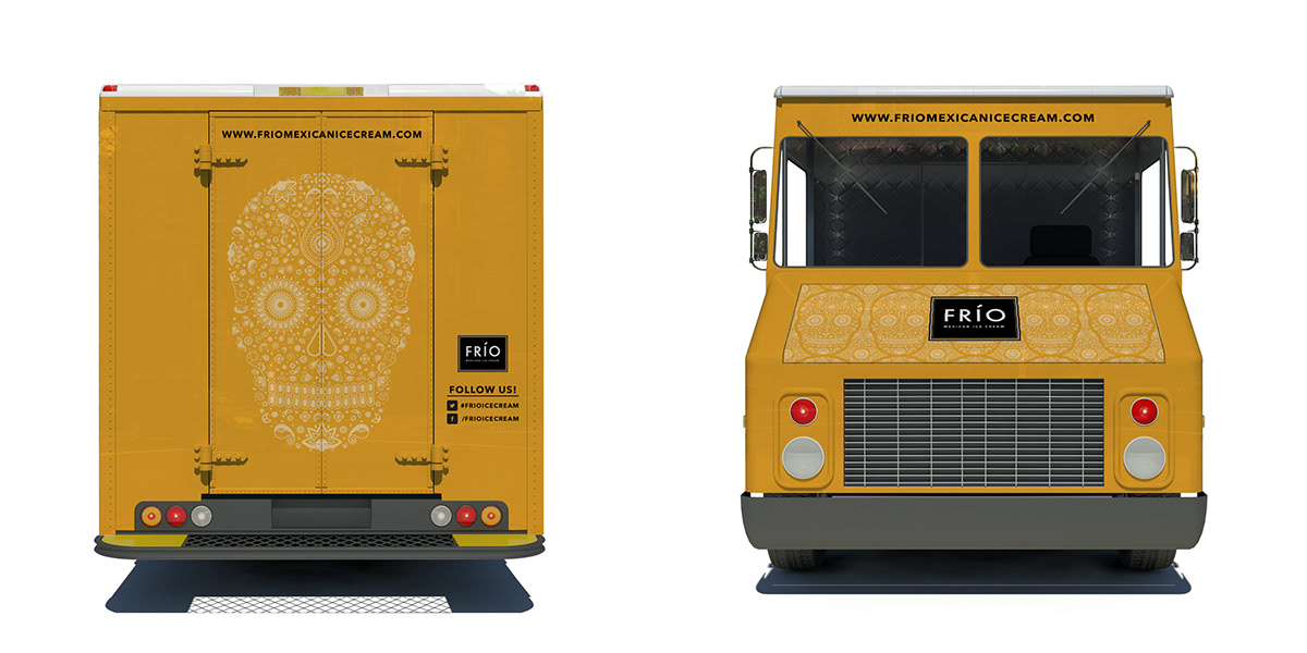 Frio Mexican Ice Cream Truck On Behance