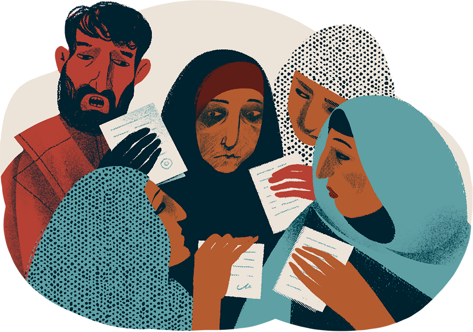 Assistance Committee Novaya gazeta Refugees in Russia Refugees Natalia Yamshchikova Illustrations by Yamshchikova Syria Refugees from Syria
