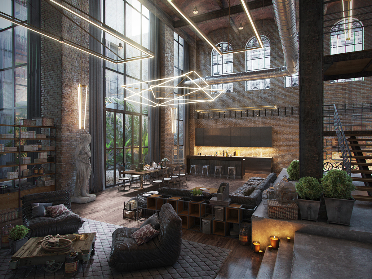 Loft evermotion challenge 2015 on behance - Loft apartment definition ...