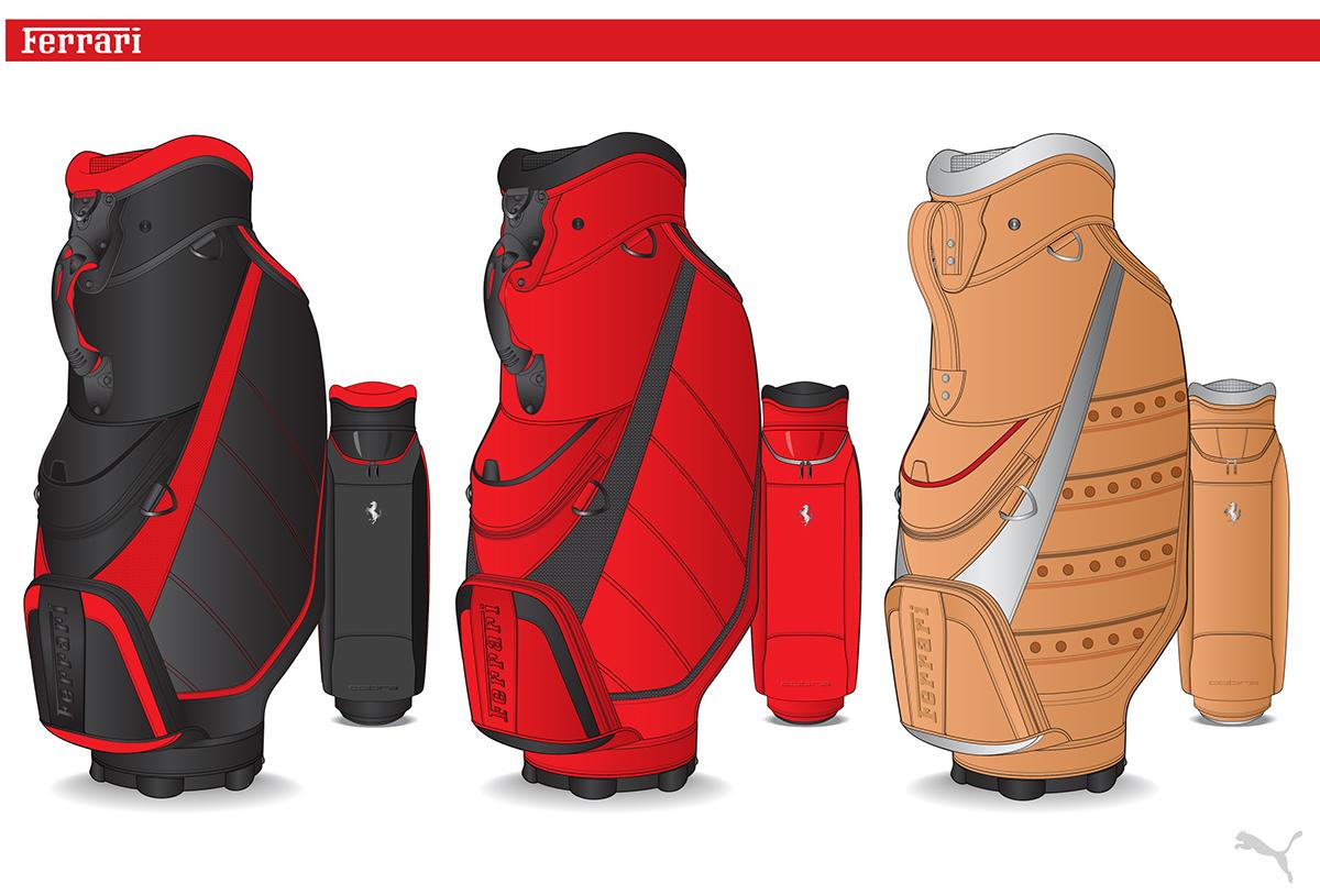 Ferrari Golf Bags And Accessories On Behance