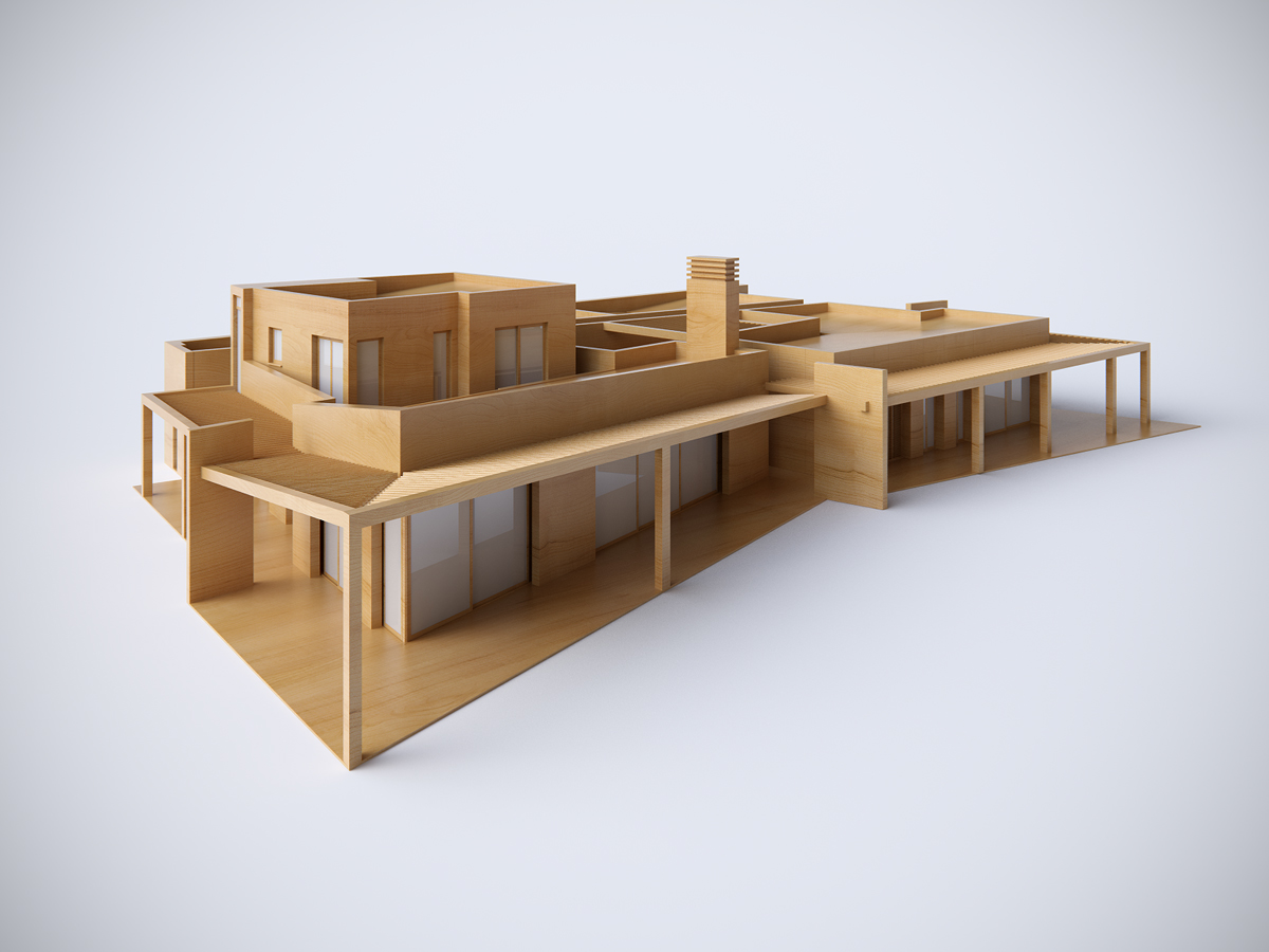 exterior 3D 3ds max vray SketchUP Villa mallorca visualisation visualization 3D Graphic