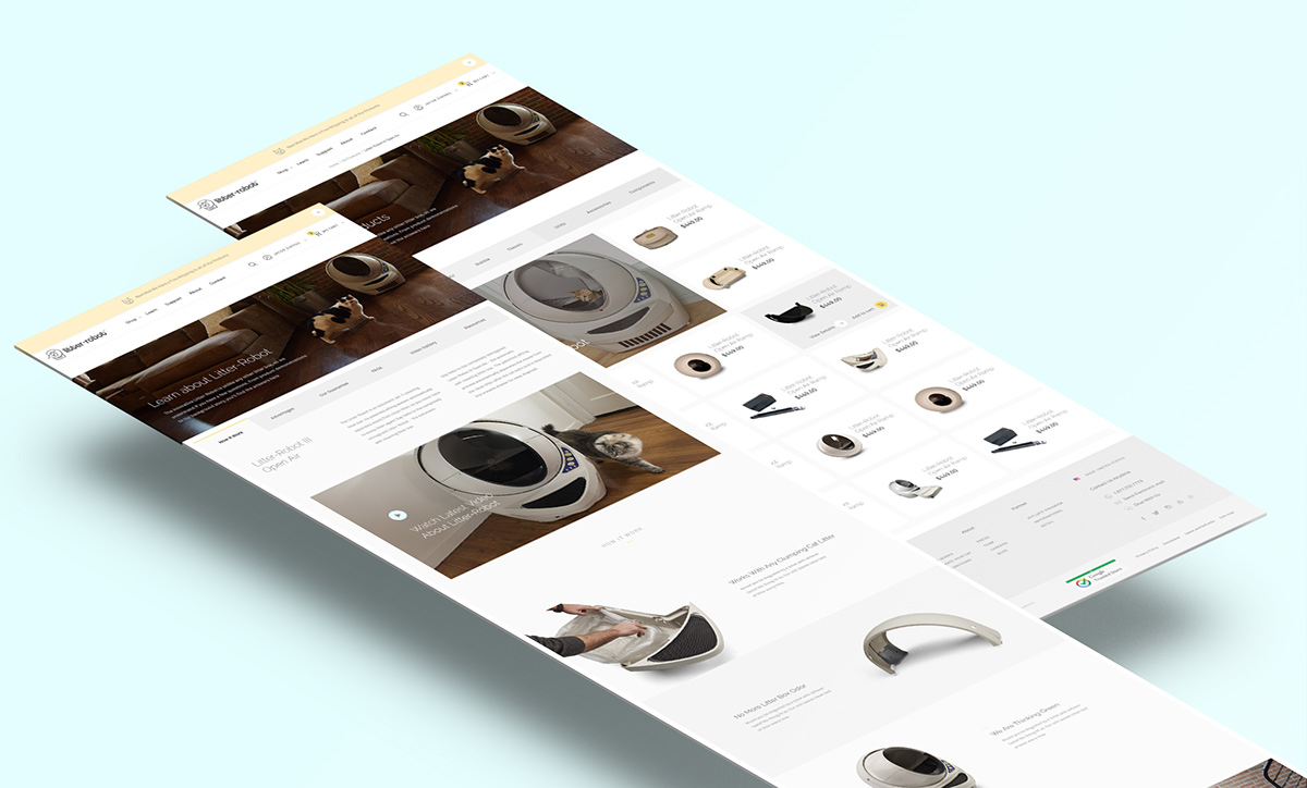 Litter-Robot Website UI/UX