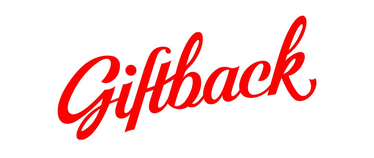 Logo Design giftback giftcards custom font