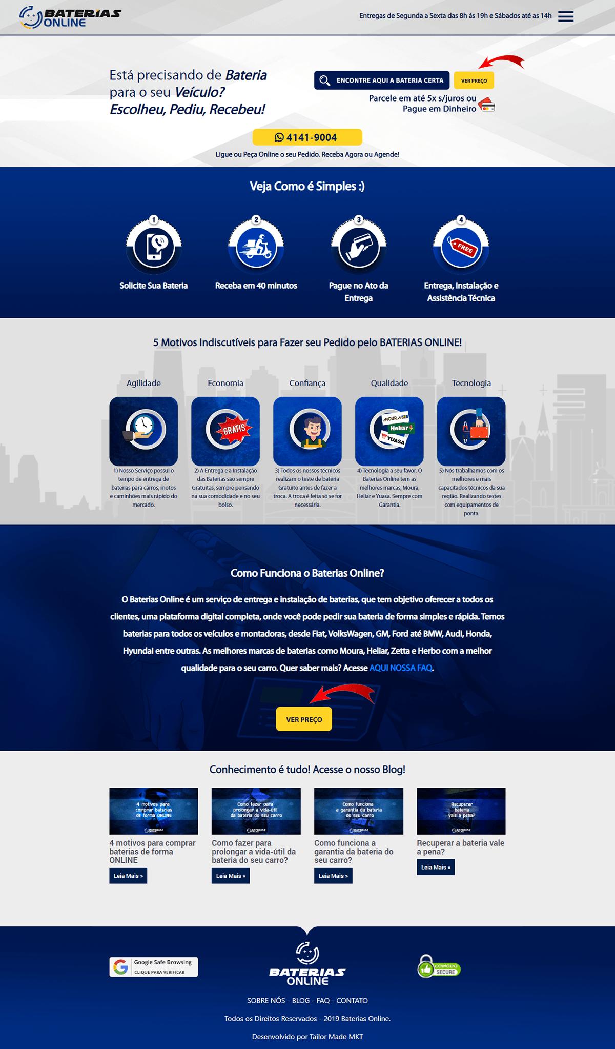 Site do Baterias Online