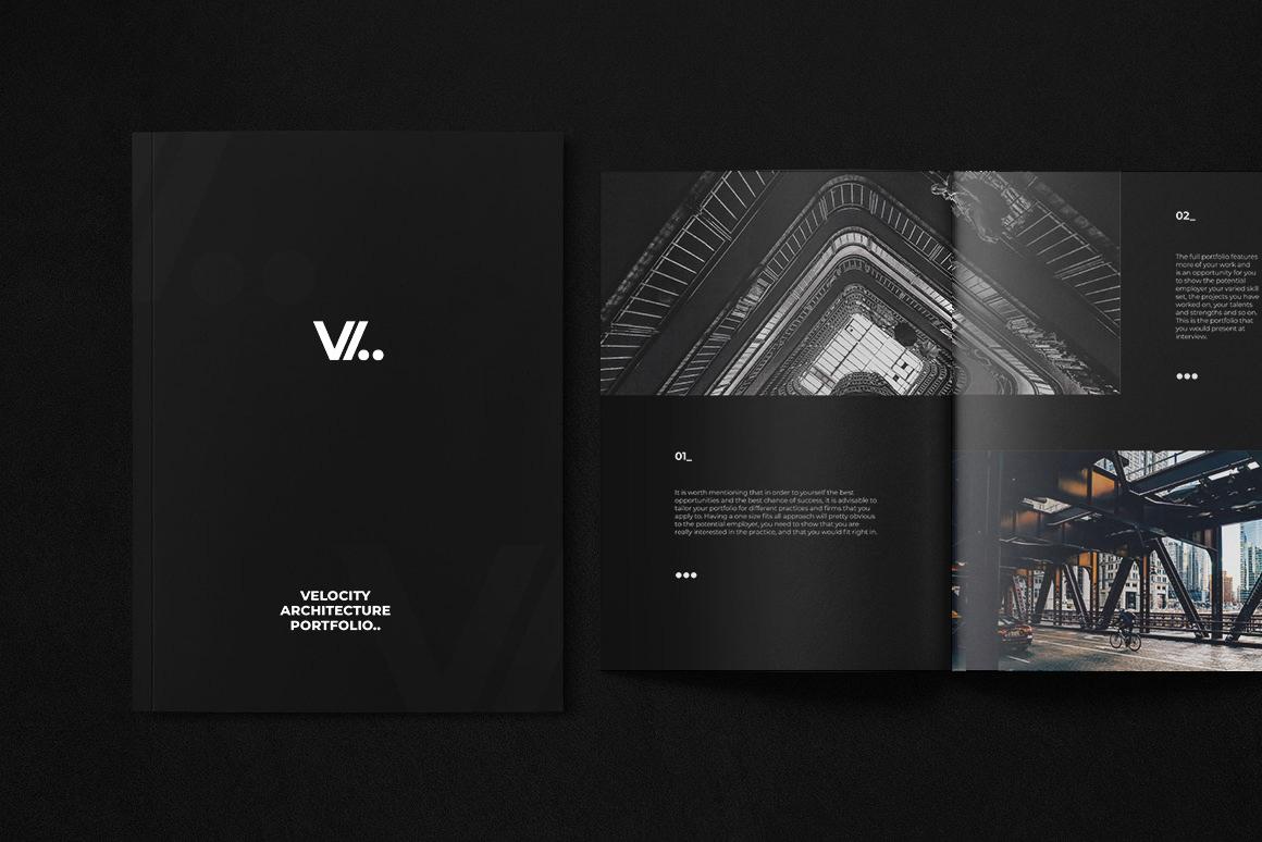 Velocity Architecture Portfolio InDesign Template on Behance