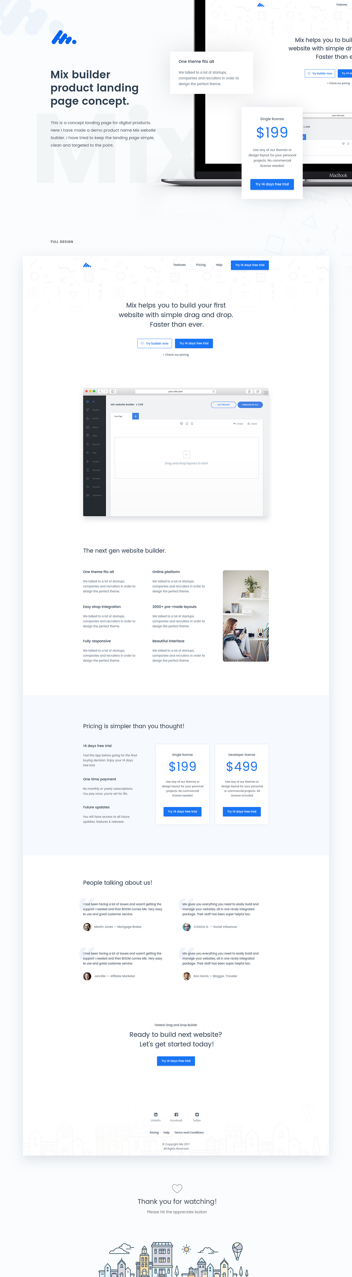 Mix Product Landing Page Concept On Student Show