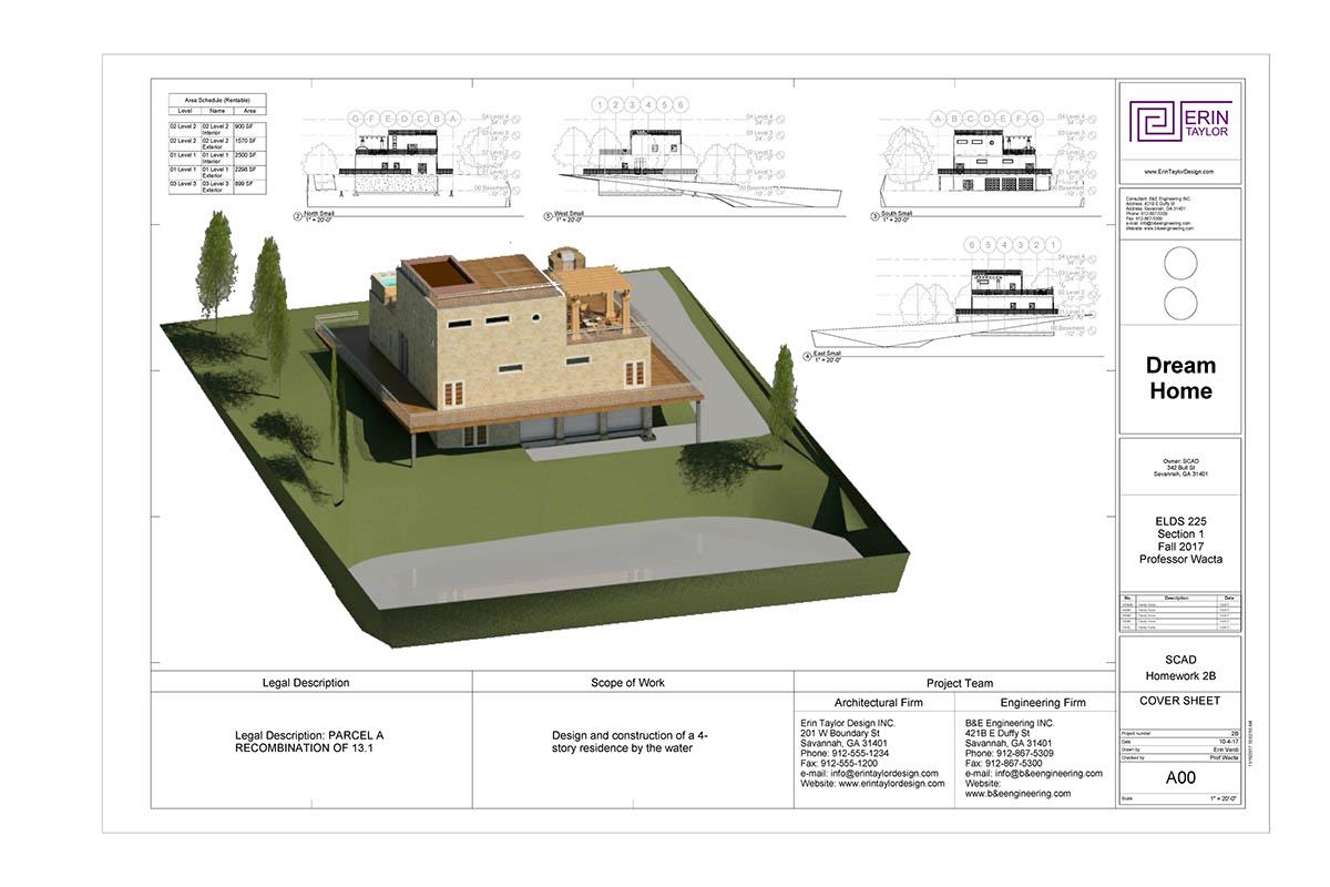 revit house plan construction document on scad portfolios