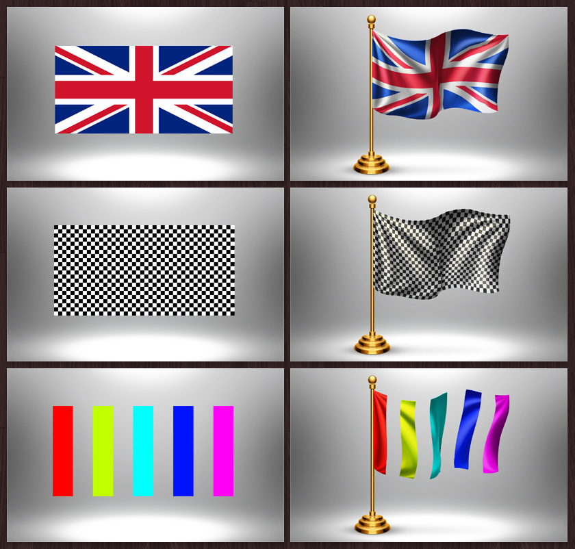 flag Mockup logo national realistic country table flag graphicriver envato fabric textile canva